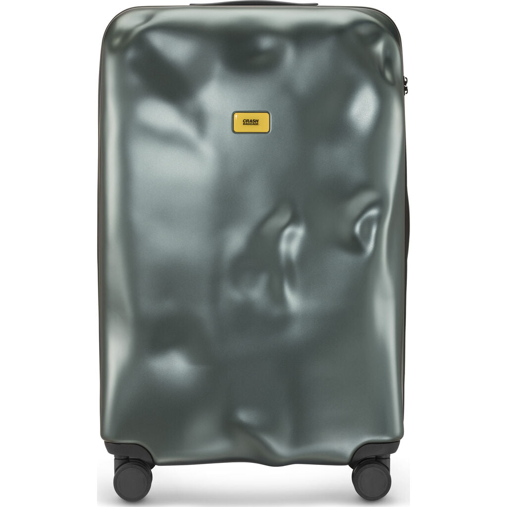 Crash Baggage Icon Trolley Suitcase | Metal Green --Large Cb163-26