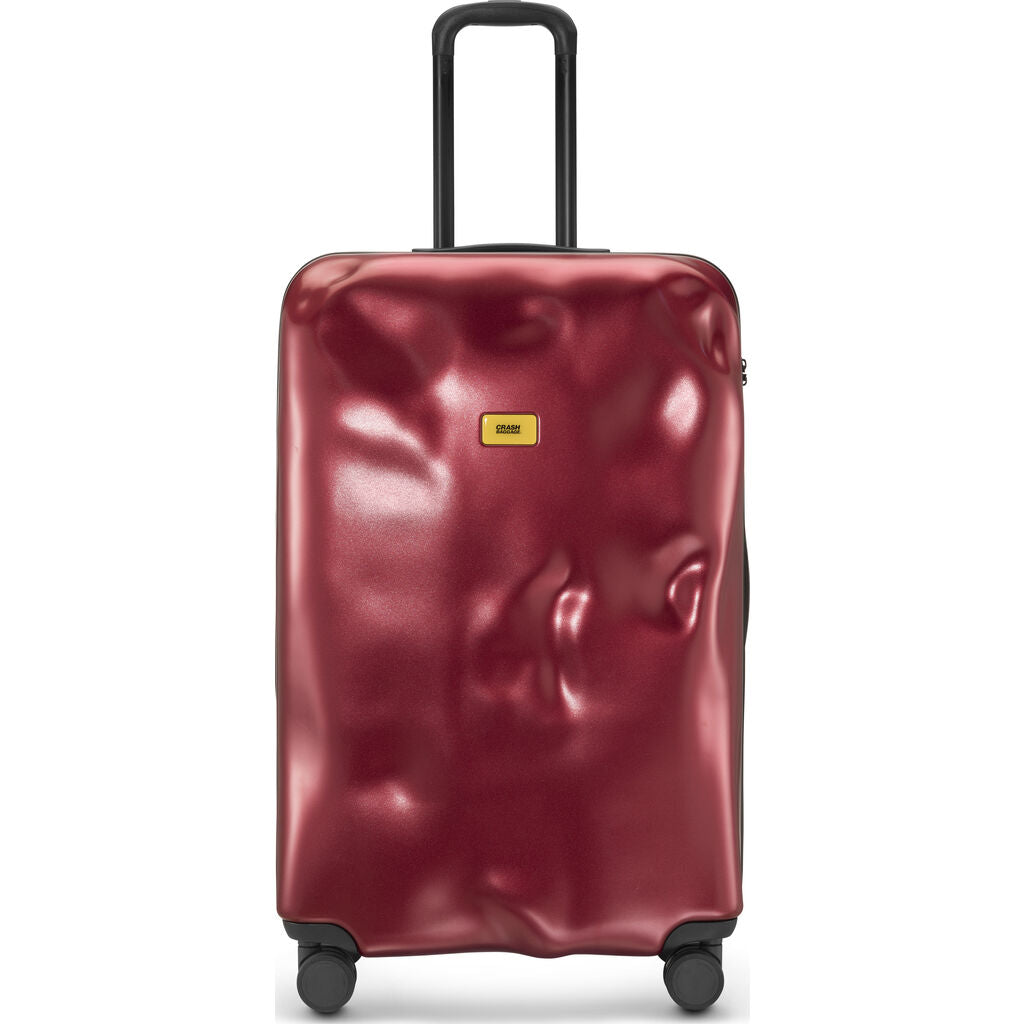 Crash Baggage Icon Trolley Suitcase | Metal Red --Large Cb163-24