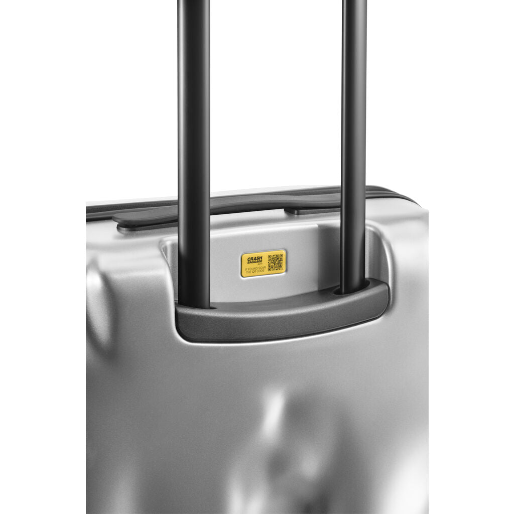 Crash Baggage Icon Trolley Suitcase | Metal Silver --Large Cb163-21