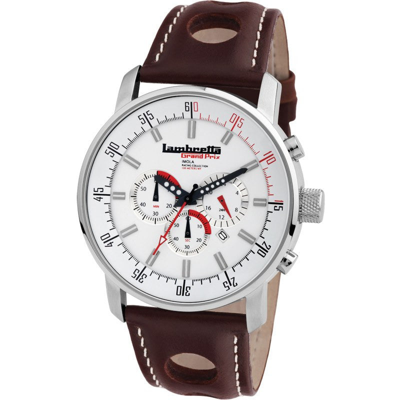 Lambretta Imola Watch | Leather White 2151WHI
