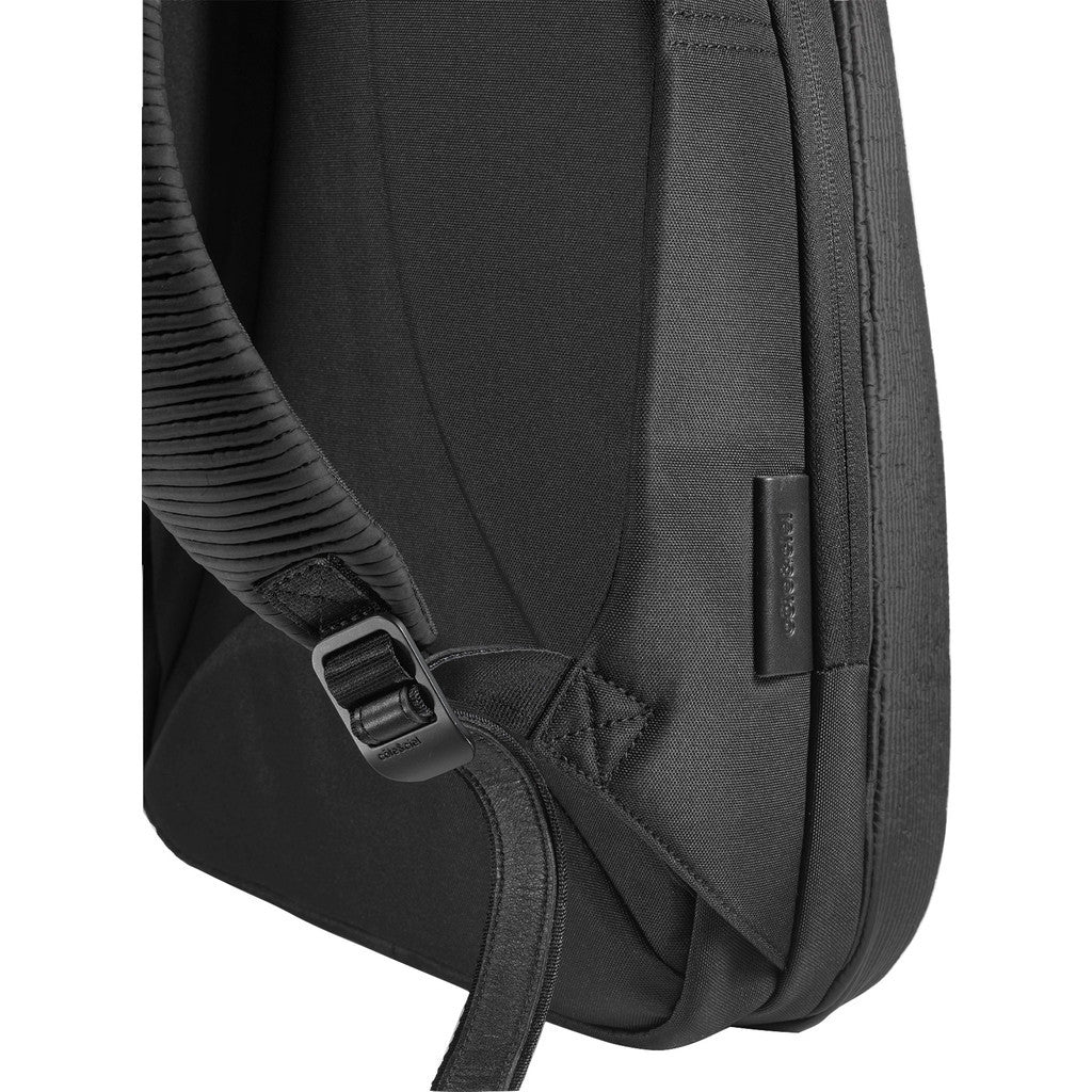 Cote&Ciel Isar Small Furrowed Nylon Backpack | Powder Black 28483