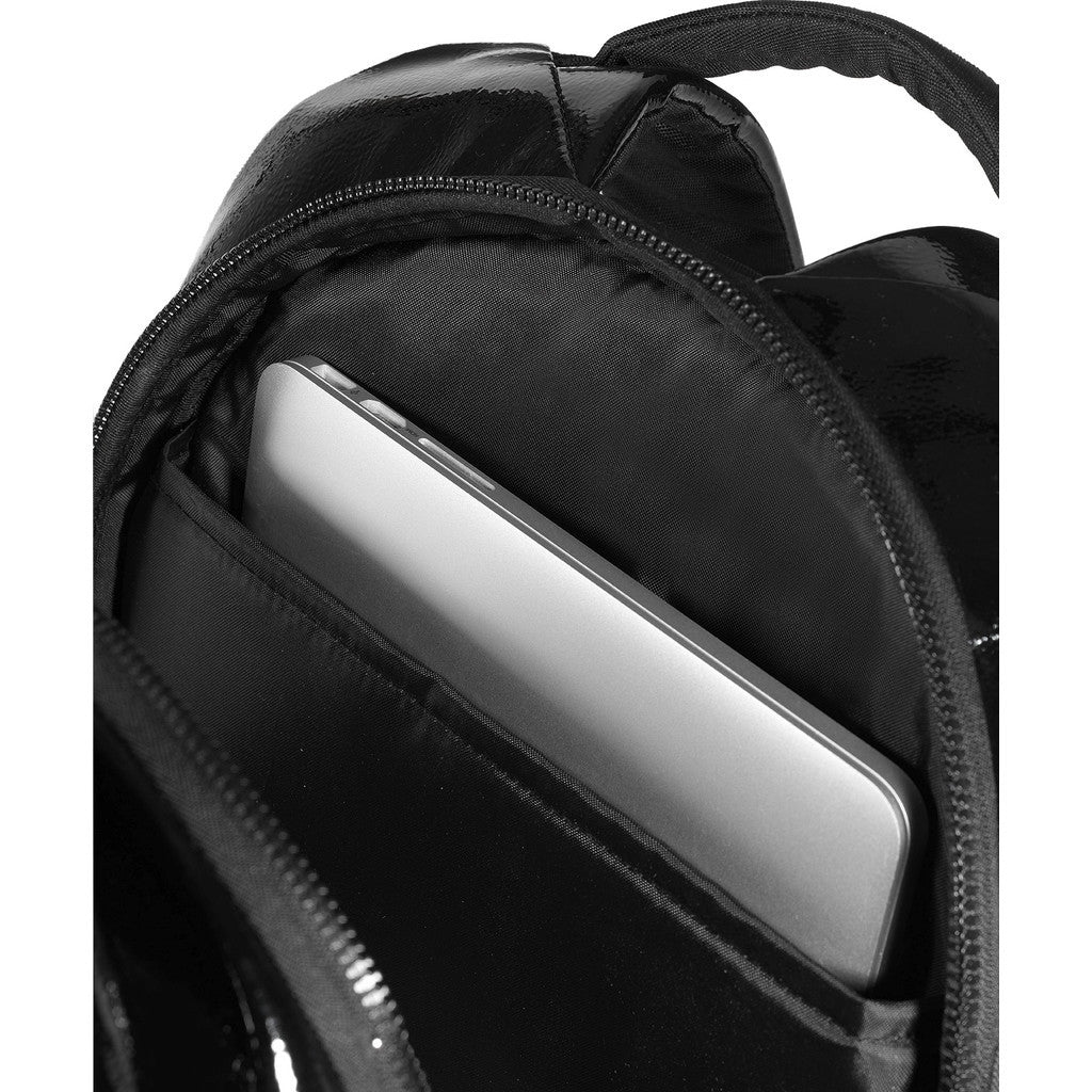 Cote&Ciel Isar Shine Laquered Polymer Backpack | Liquid Black 28468Cote&Ciel Isar Shine Laquered Polymer Backpack | Liquid Black 28468
