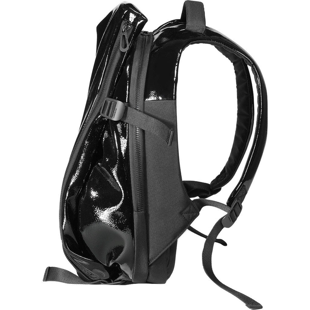 Cote&Ciel Isar Shine Laquered Polymer Backpack | Liquid Black 28468