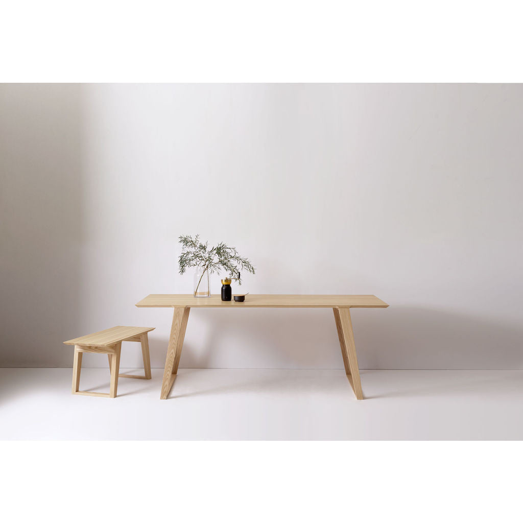 Kalon Isometric Medium Wood Table | Ash -112-A-M