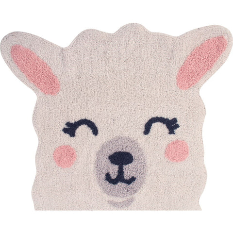 Lorena Canals Mr. Wonderful Collection Kid's Washable Rug | Smile Like a Llama