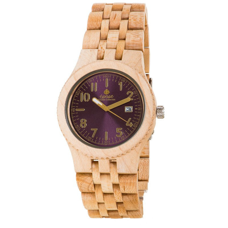 Tense Yukon Discovery Men's Watch Maplewood - Violet | J5200M-V