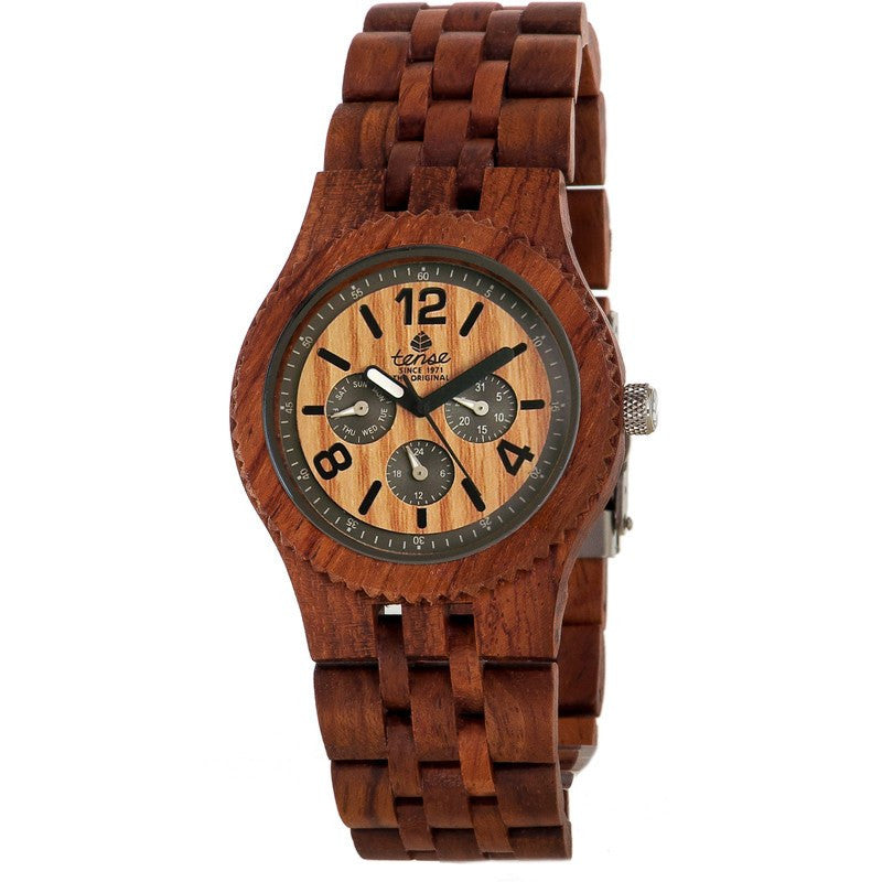 Tense Vernon Adventure Men's Watch African Rosewood | J5203R