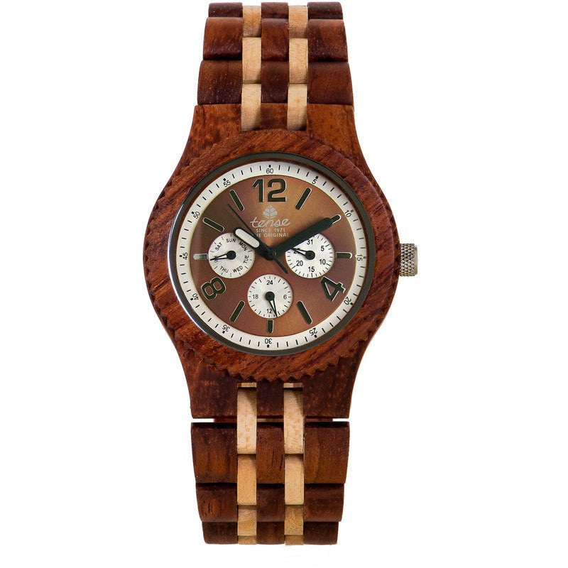 Tense Vernon Adventure Men's Watch African Rosewood/Maple | J5203RM