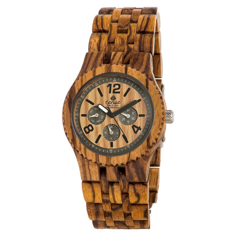 Tense Vernon Adventure Men's Watch Zebrawood | J5203Z
