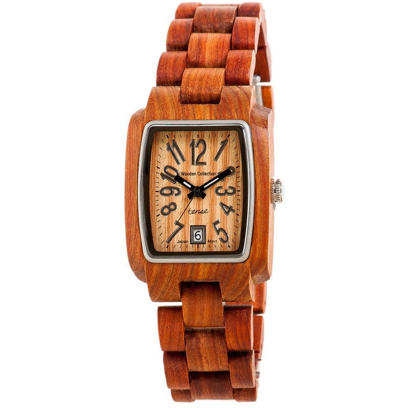 Tense Timber Discovery Men's Watch Sandalwood Black Num. | J8102S