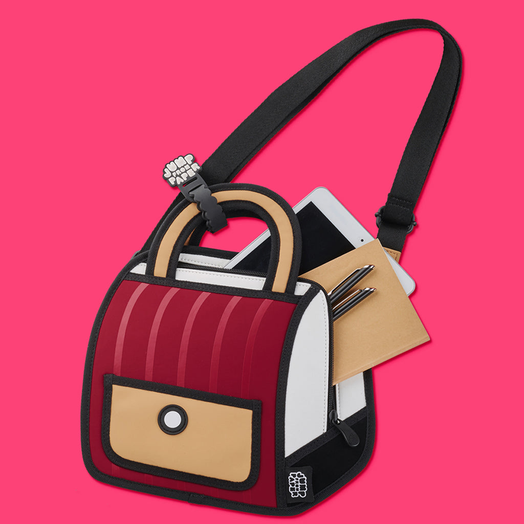 Jump From Paper Outer Stripe Handbag