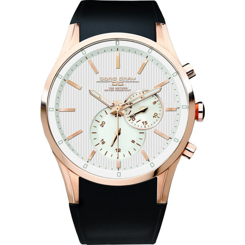 Jorg Gray JG5100-34 White Chronograph Men's Watch | Leather
