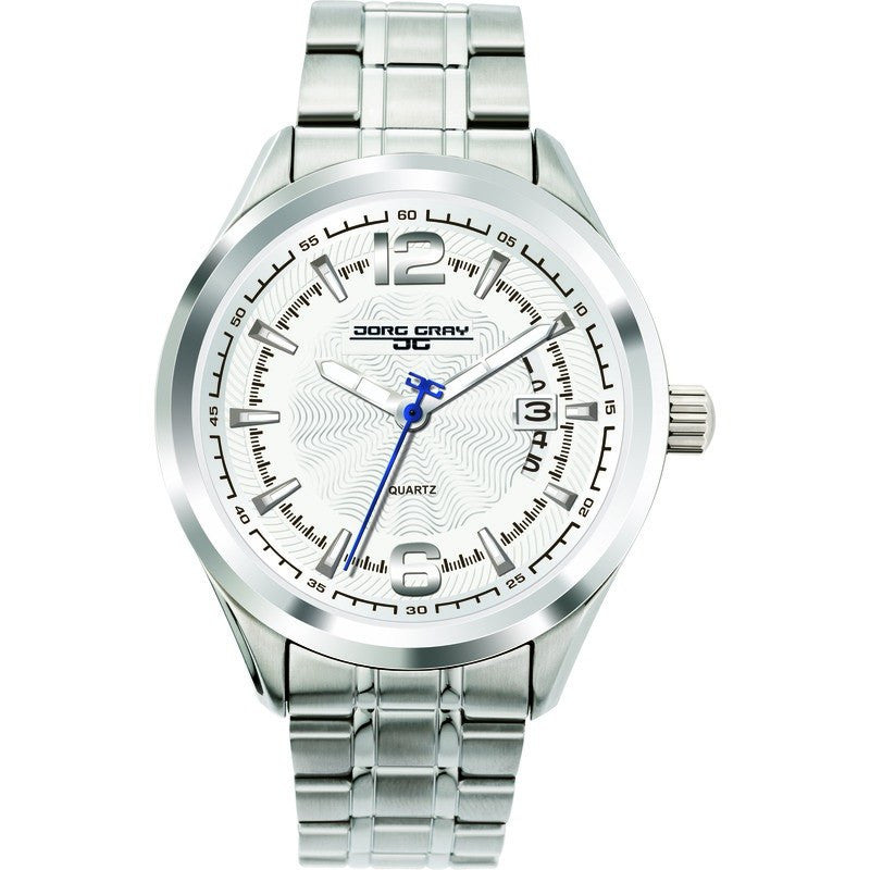 Jorg Gray JG6100-11 Silver Three Hand Unisex Watch | Steel