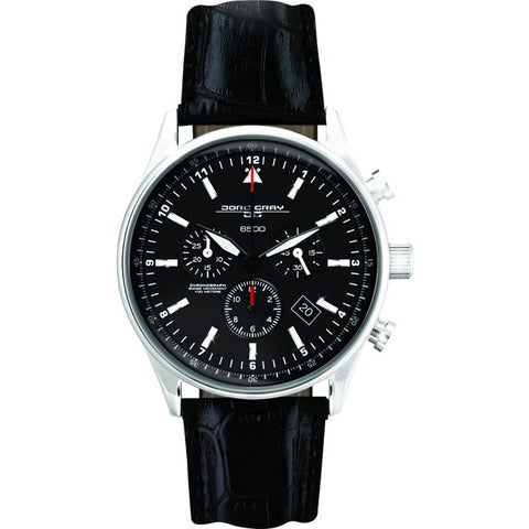 Jorg Gray JG6500-44 Black Chronograph Men's Watch | Leather