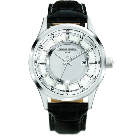 Jorg Gray JG6800-11 Silver Three Hand Men's Watch | Leather