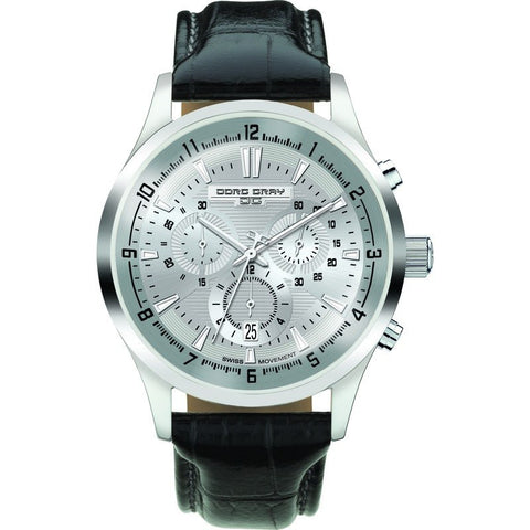 Jorg Gray JG6800-21 Silver Chronograph Men's Watch | Leather
