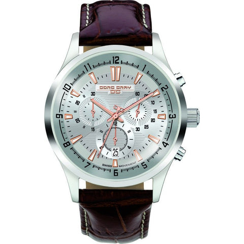 Jorg Gray JG6800-22 Blue Chronograph Men's Watch | Leather