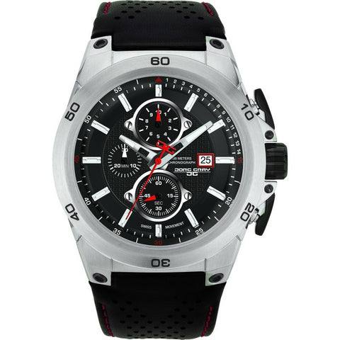 Jorg Gray JG7800-21 Black Chronograph Men's Watch | Leather