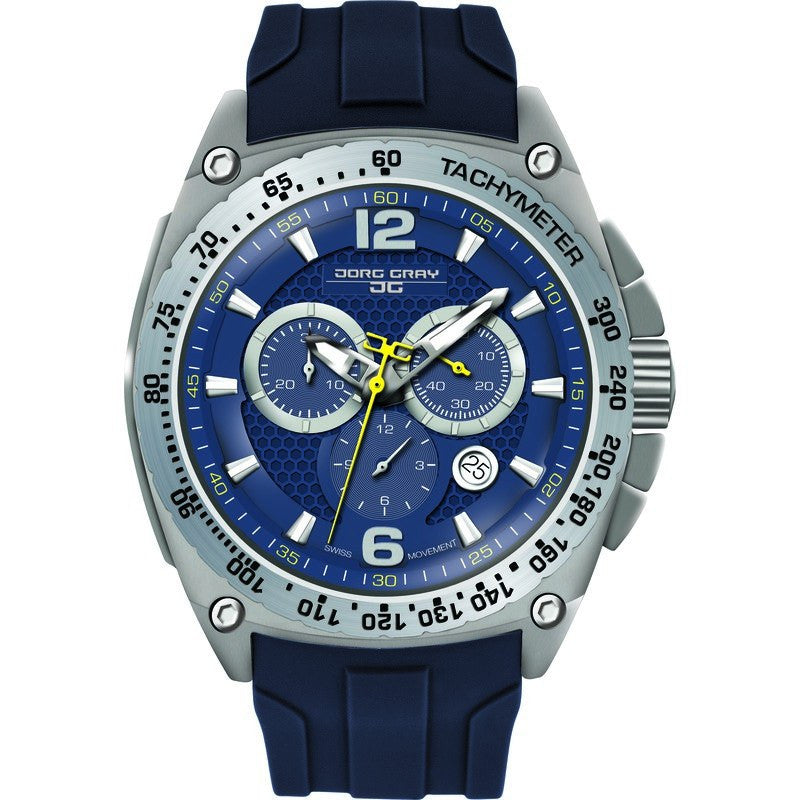 Jorg Gray JG8400-21 Blue Chronograph Men's Watch | Silicone