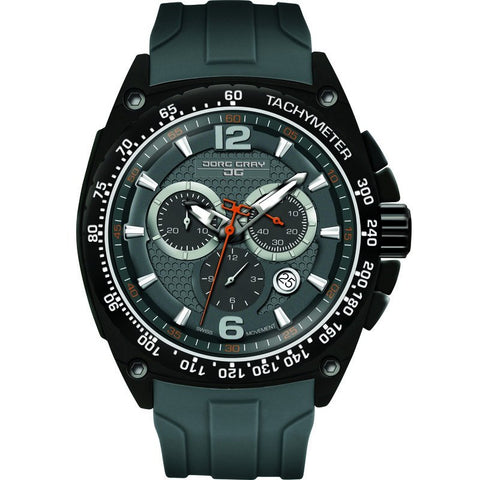 Jorg Gray JG8400-22 Gray Chronograph Men's Watch | Silicone