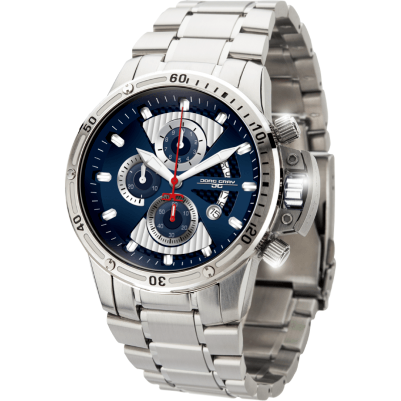 Jorg Gray JG8500-22 Blue Chronograph Men's Watch | Steel