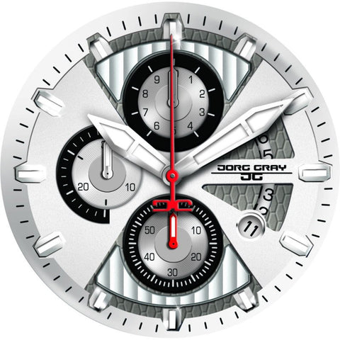 Jorg Gray JG8500-23 White Chronograph Men's Watch | Steel