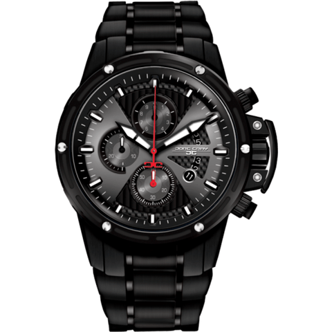 Jorg Gray JG8500-24 Black Chronograph Men's Watch | Steel