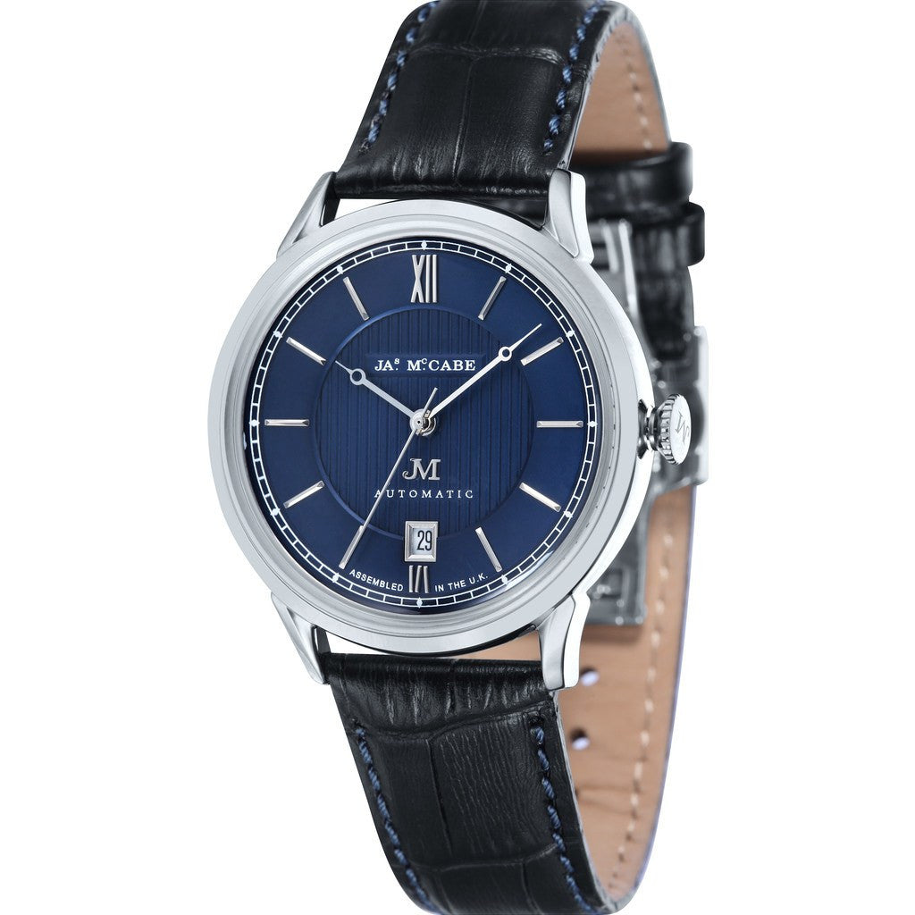 James McCabe Heritage Automatic II  Watch | Blue/Black JM-1022-01