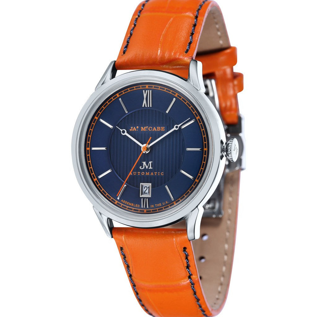 James McCabe Heritage Automatic II  Watch | Blue/Orange JM-1022-04