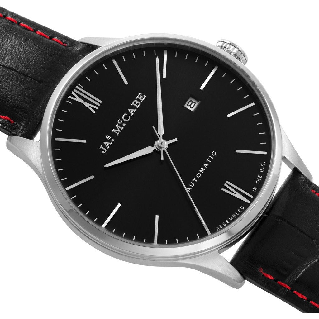 James McCabe London Automatic Watch | Black/Black JM-1025-01