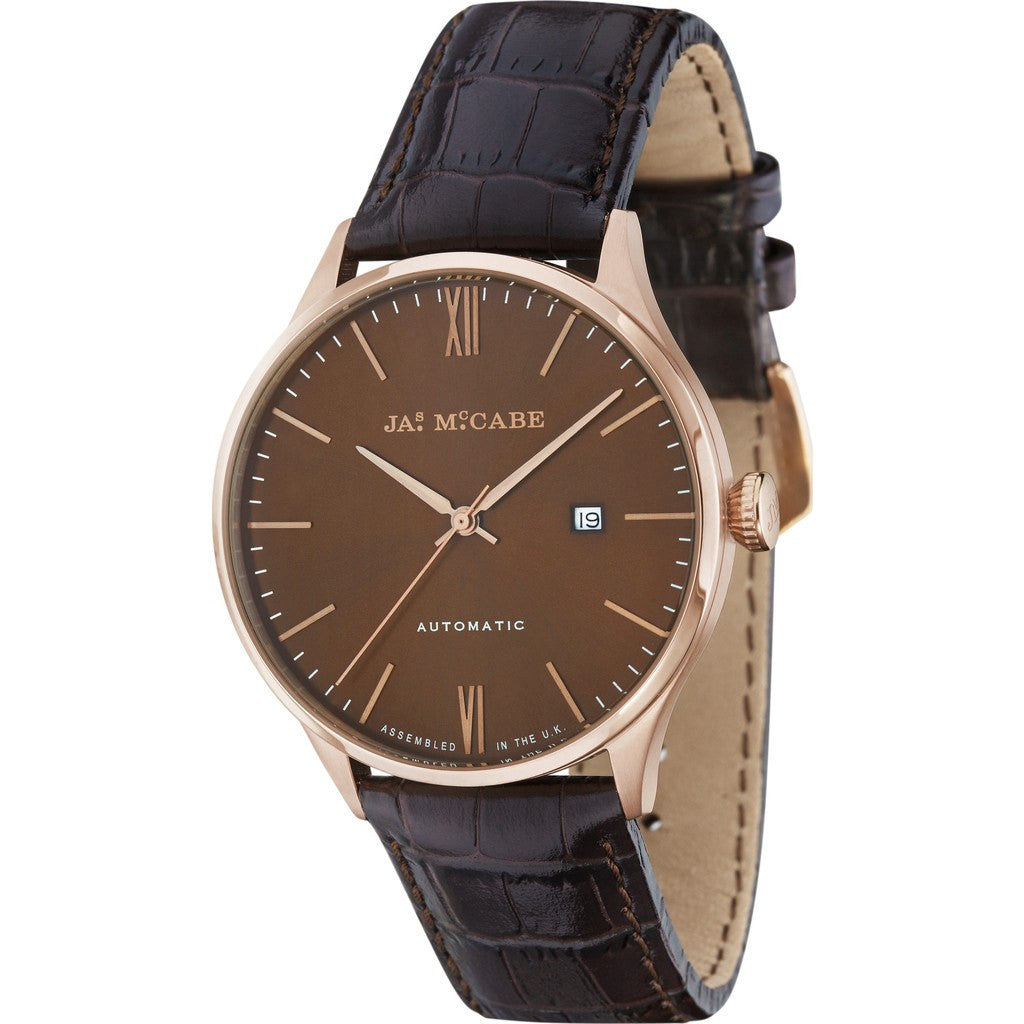 James McCabe London Automatic Watch | Brown/Brown JM-1025-03