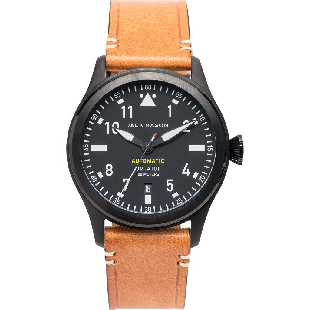 series products strap aviator black men quartz s wristwatch chronograph watches leather f military watch pilot mens