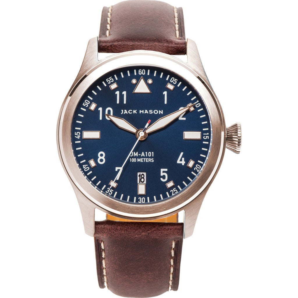 Jack Mason Aviator JM-A101-103 3-Hand Watch | Brown Leather JM-A101-103