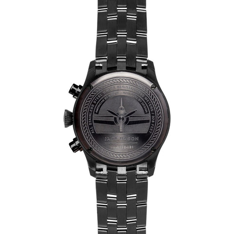 Jack Mason Aviator Black Chronograph Black PVD Watch| Steel JM-A102-026