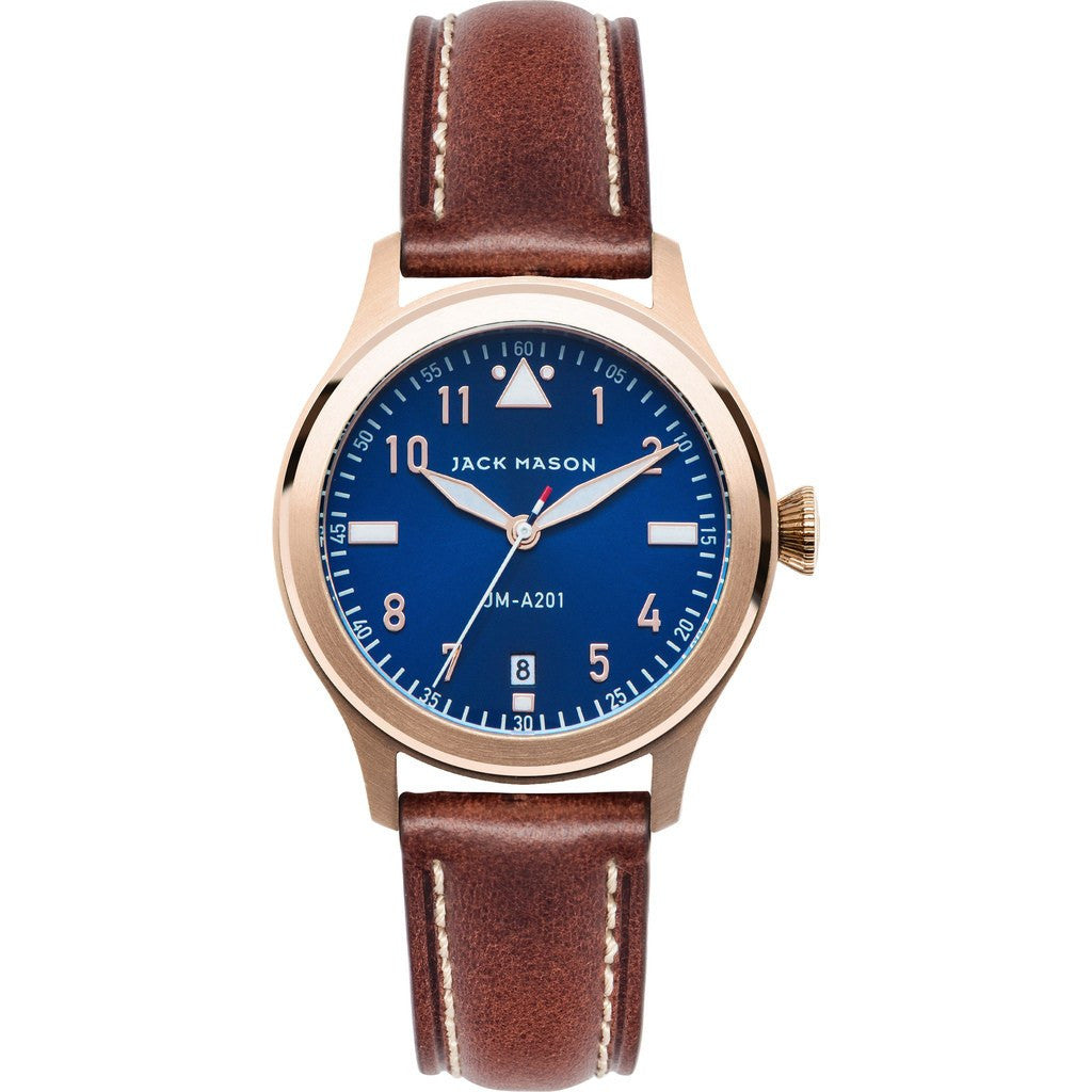 Jack Mason Aviator JM-A201-002 3-Hand Watch | Brown Leather JM-A201-002