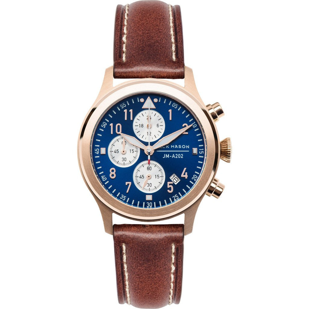 Jack Mason Aviator JM-A202-001 Chronograph Watch | Brown Leather JM-A202-001