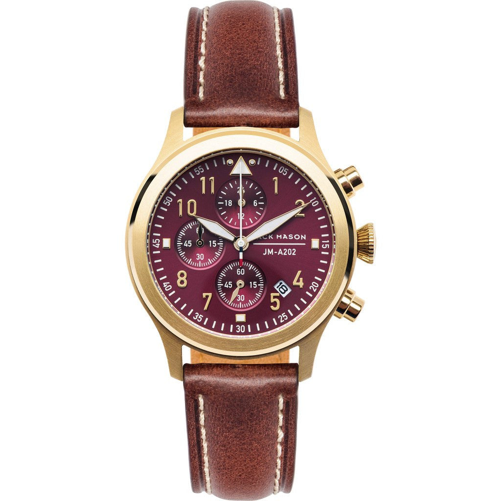 Jack Mason Aviator JM-A202-003 Chronograph Watch | Brown Leather JM-A202-003
