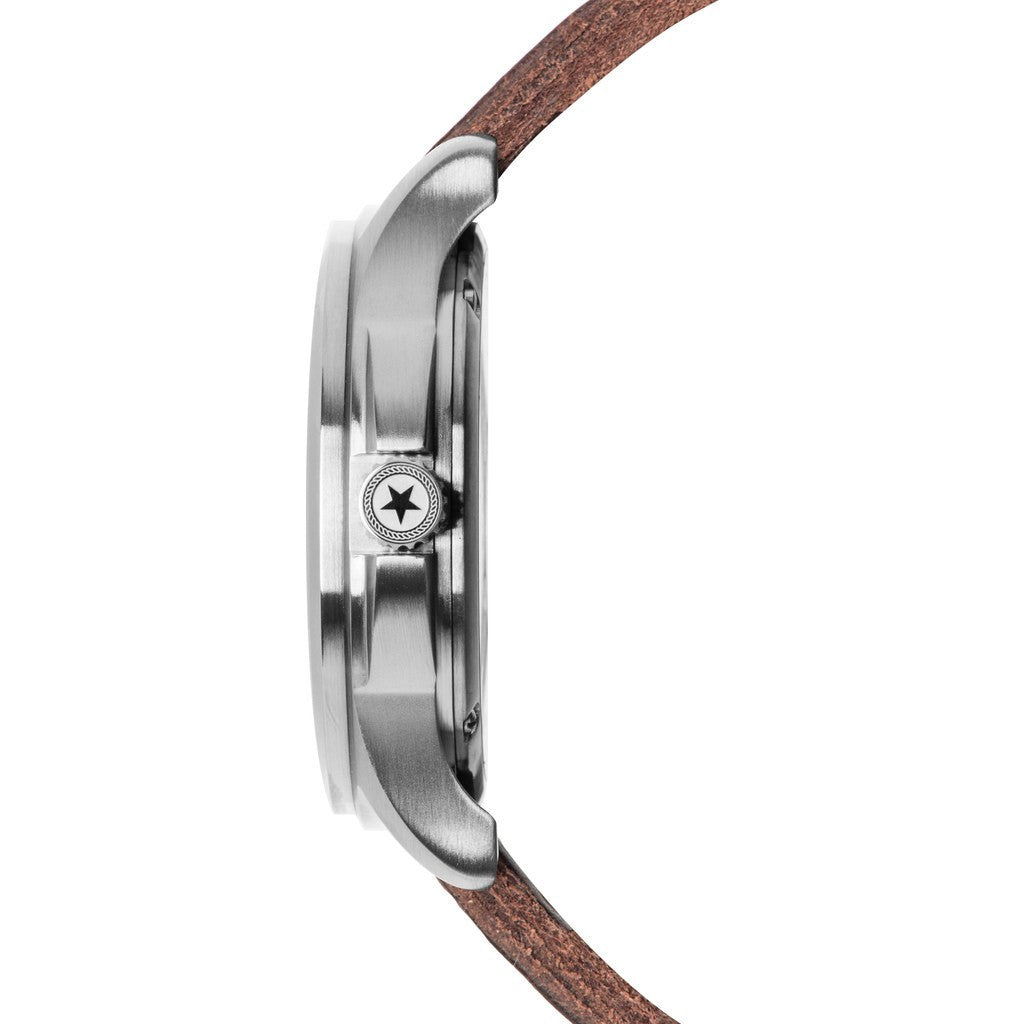 Jack Mason Field JM-F101-001 3-Hand Watch | Brown Leather JM-F101-001