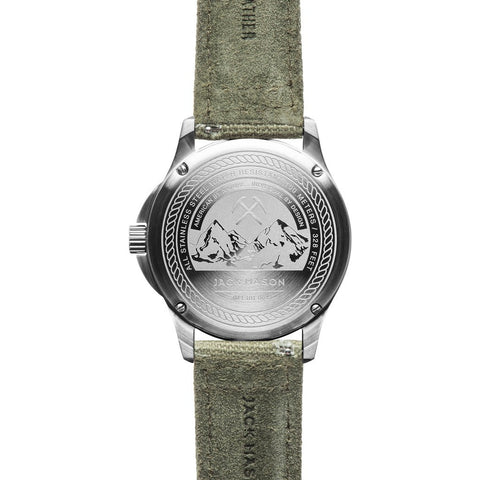 Jack Mason Field JM-F101-004 3-Hand Watch | Green Canvas JM-F101-004
