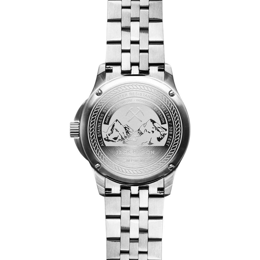 Jack Mason Field JM-F101-007 3-Hand Steel Watch | Steel JM-F101-007