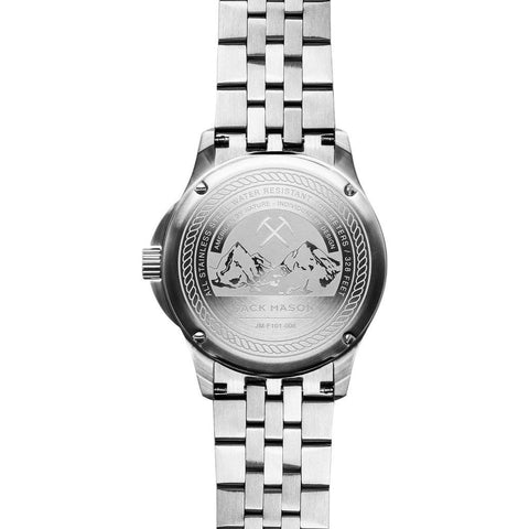 Jack Mason Field JM-F101-008 3-Hand Watch | Steel JM-F101-008
