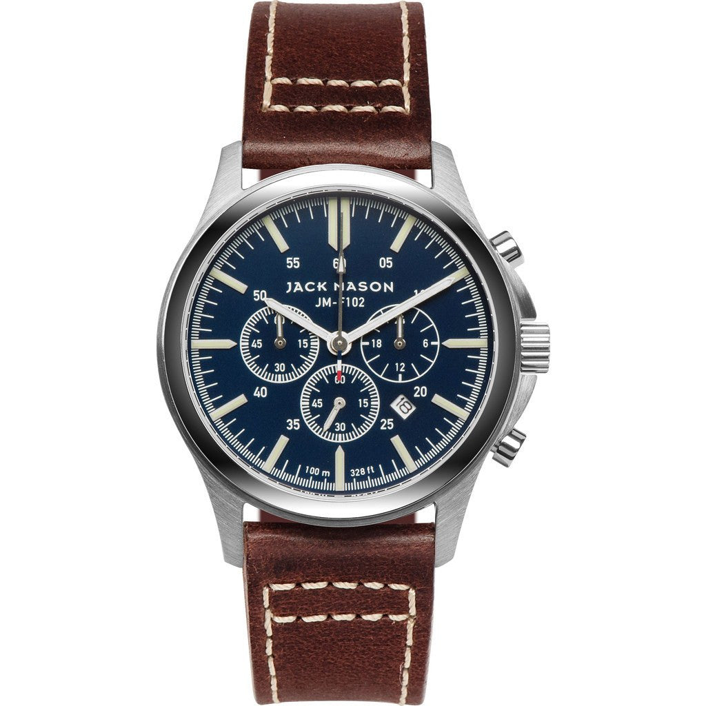 Jack Mason Field JM-F102-009 Chronograph Watch | Brown Leather JM-F102-009