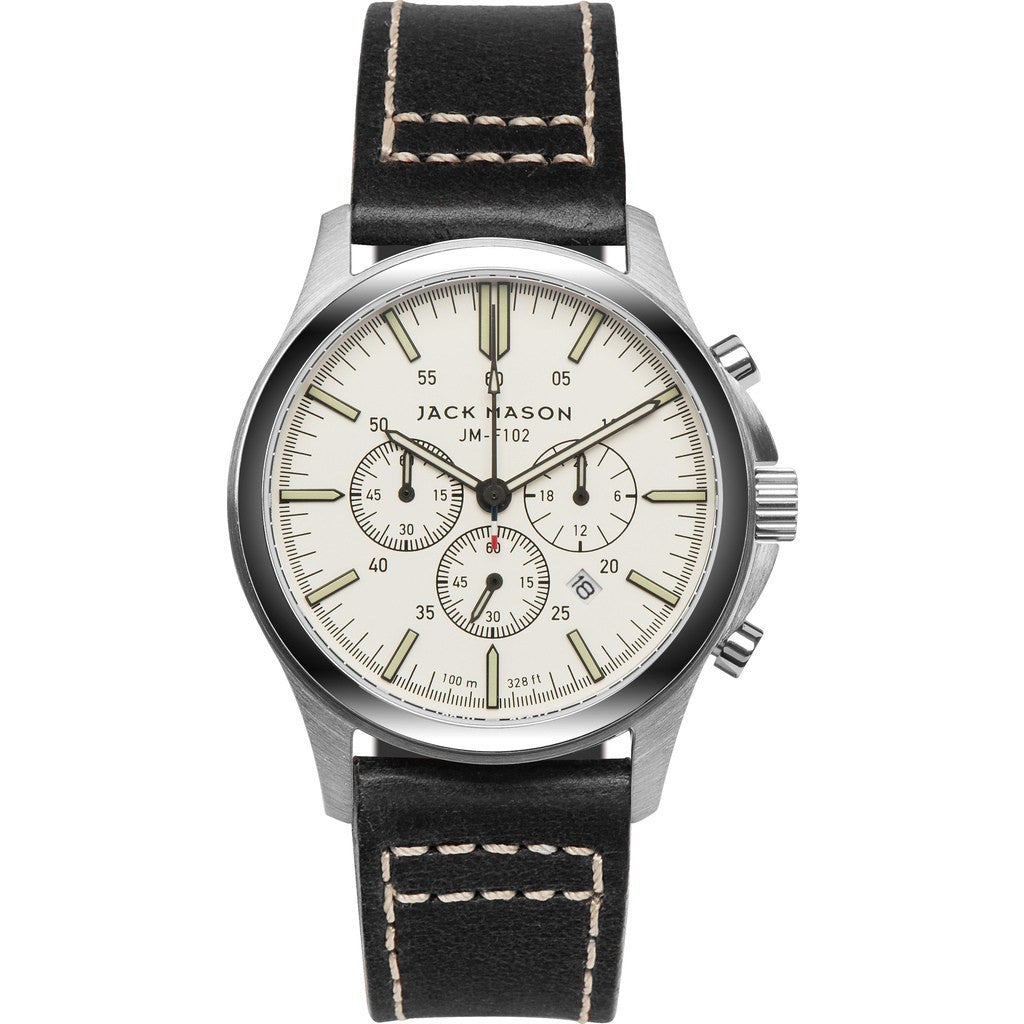 Jack Mason Field JM-F102-011 Chronograph Watch | Black Leather JM-F102-011