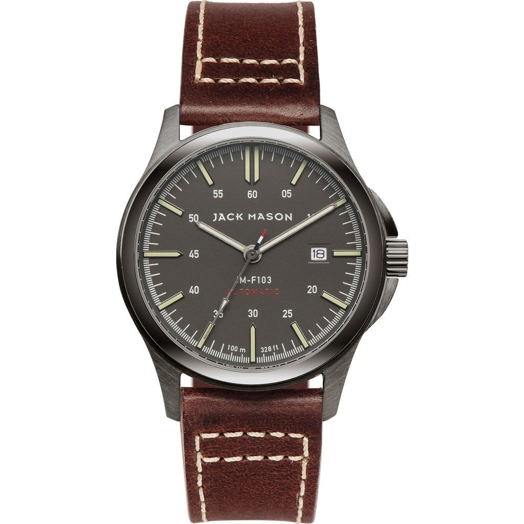 Jack Mason Field JM-F103-001 Automatic Watch | Brown Leather JM-F103-001