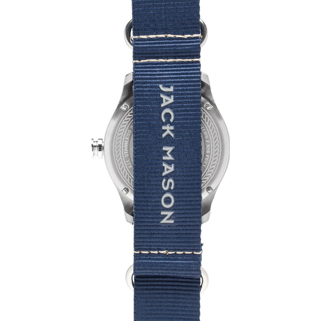 Jack Mason Nautical Navy 3-Hand Stainless Steel Watch | Navy Nylon JM-N101-008