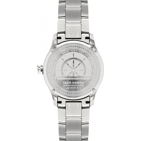 Jack Mason Nautical White 3-Hand Stainless Steel Watch | Steel JM-N101-014