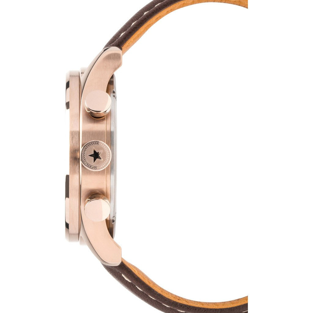 Jack Mason Nautical Grey Chronograph Rose Gold Tone Watch | Brown Leather JM-N102-026