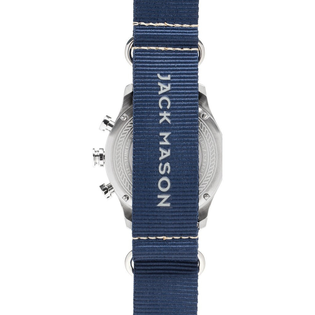 Jack Mason Nautical Navy Chronograph Stainless Steel Watch | Navy Nylon JM-N102-027