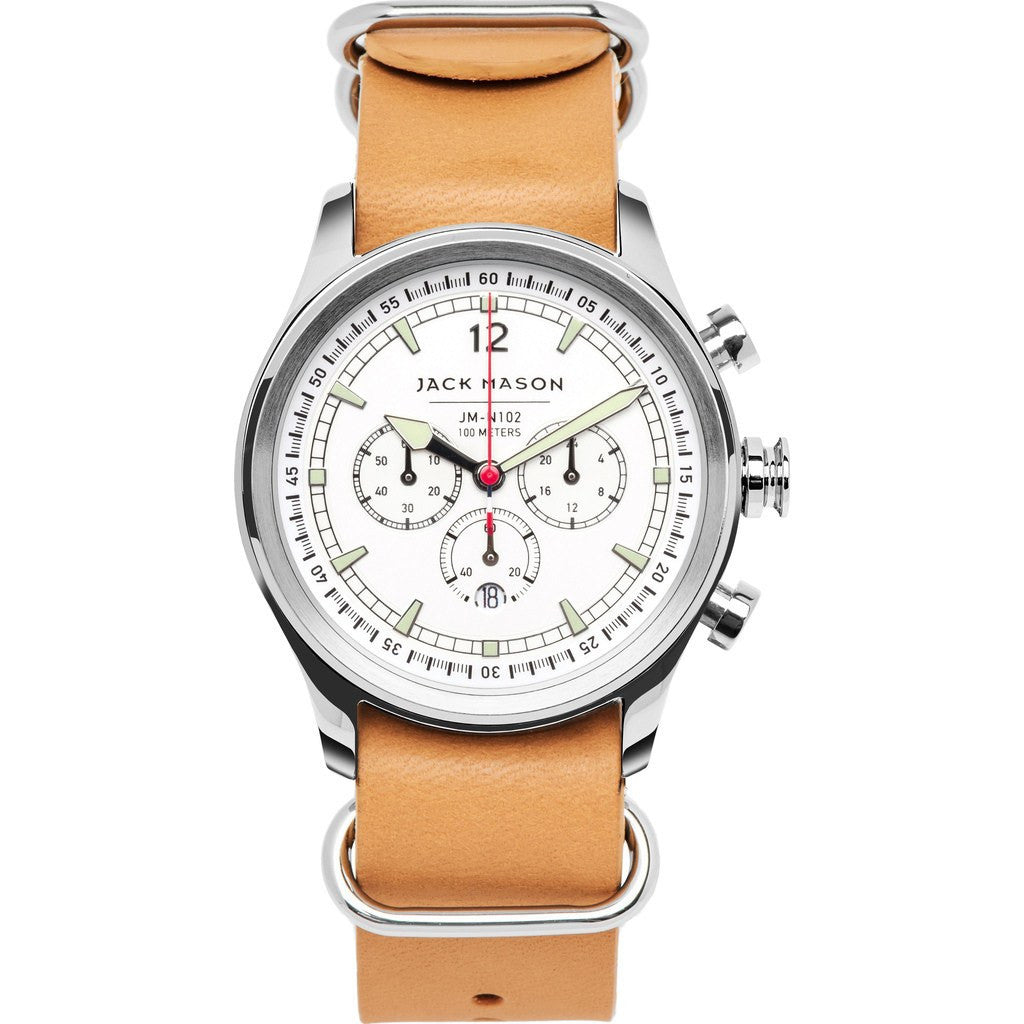 Jack Mason Nautical JM-N102-108 Chronograph Watch | Camel Leather Nato JM-N102-108