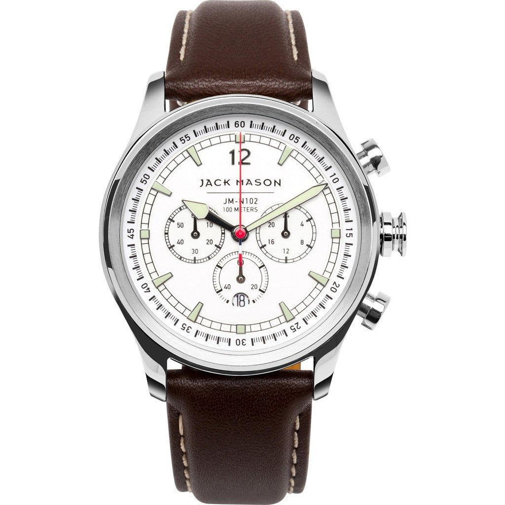 Jack Mason Nautical JM-N102-110 Chronograph Watch | Brown Leather JM-N102-110